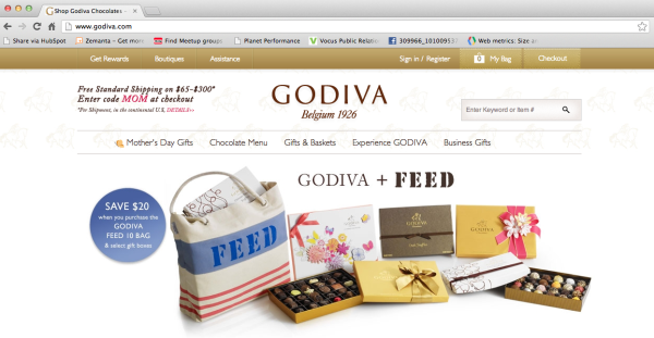 godiva homepage performance